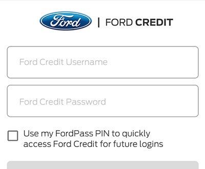 My Ford Credit >> Ford Pass App